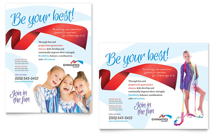 Gymnastics Academy Poster Template Design SF0250601 on Real Estate Flyer Templates Microsoft