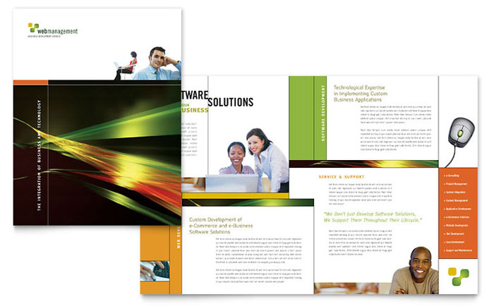 software for designing brochures - internet software brochure template design