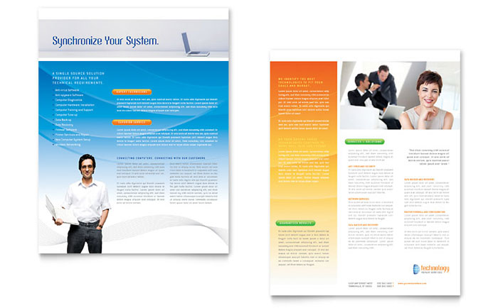it services brochure template computer it services datasheet template design