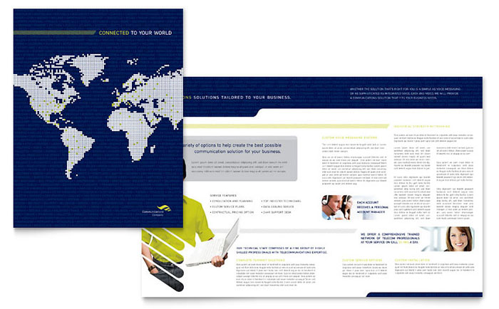 Apple Auto Sales >> Global Communications Company Brochure Template Design