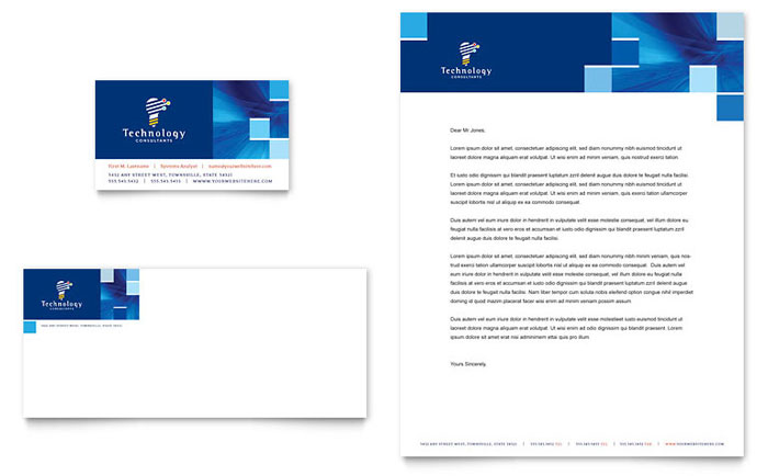 Technology Consulting IT Newsletter Template Design – Stationery Templates for Designers