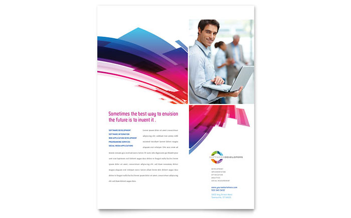 Software Solutions Flyer Template Design