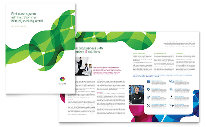 Network Administration Brochure Design