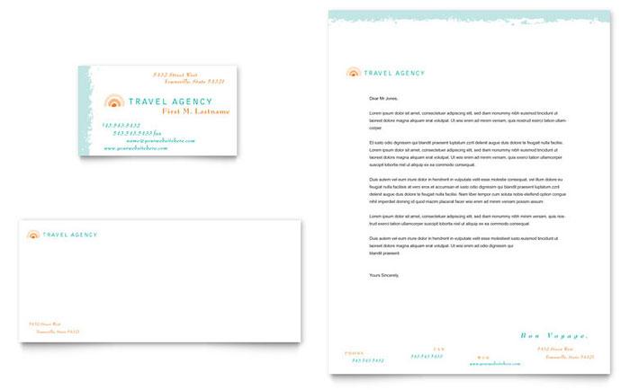 Travel Agency Business Card u0026 Letterhead Template Design