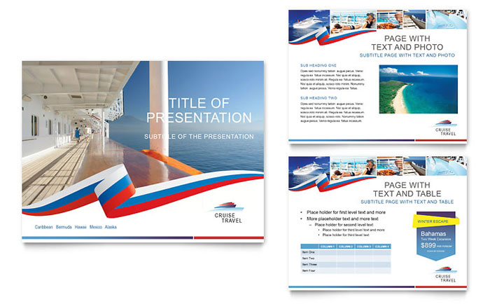 Cruise Travel Powerpoint Presentation Template Design