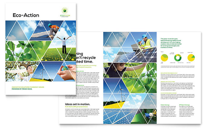 Green Energy Consultant Brochure Template Design