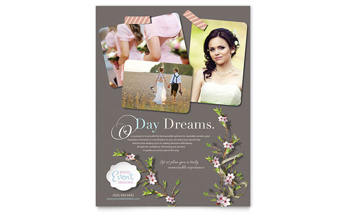 Wedding Planner Flyer Template Design