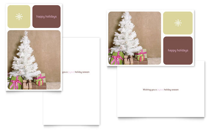 Contemporary Christmas Greeting Card Template Design