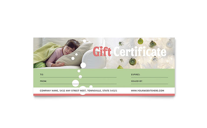 Christmas Dreams Gift Certificate Template Design