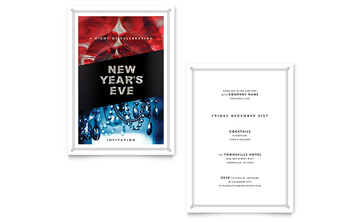 New Year's Eve Invitation Template Design