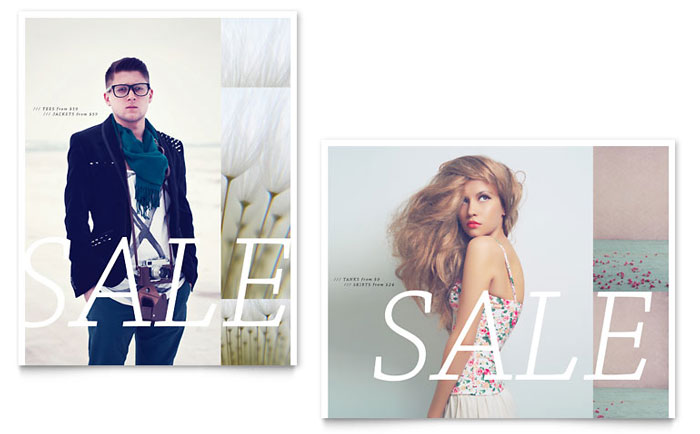 Urban Fashion Sale Poster Template Design