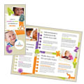 Kindergarten - Tri Fold Brochure Template Design
