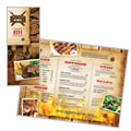 Steakhouse BBQ Restaurant - Take-out Brochure Template Design