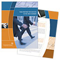 Investment Services - Brochure Template Design Sample