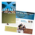 Employment Agency & Jobs Fair - Brochure Template Design Sample