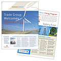 Utility & Energy Company - Newsletter Template Design