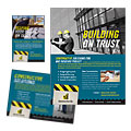 Industrial & Commercial Construction - Flyer & Ad Template Design