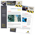 Industrial & Commercial Construction - Datasheet Template Design