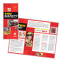 Fire Safety - Brochure Template Design Sample