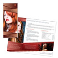 Hair Stylist & Salon - Brochure Template Design Sample