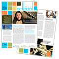 Arts Council & Education - Newsletter Template Design