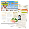 Health Insurance Company - Newsletter Template Design