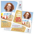 Food Bank Volunteer - Poster Template Design