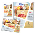 Food Bank Volunteer - Flyer & Ad Template Design