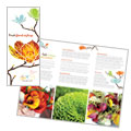 Flower Shop - Tri Fold Brochure Template Design