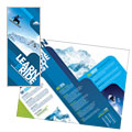 Ski & Snowboard Instructor - Tri Fold Brochure Template Design