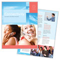 Communications Company - Brochure Template Design Sample