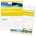 Environmental Conservation - Newsletter Template Design