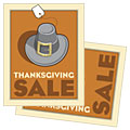 Thanksgiving Pilgrim - Sale Poster Template Design Sample