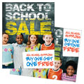 Back to School - Sale Poster Template Design Sample