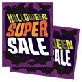 Halloween Bats - Sale Poster Template Design Sample