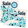 Winter Color Floral - Sale Poster Template Design Sample