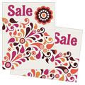 Fall Color Floral - Sale Poster Template Design Sample
