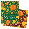 Thanksgiving Harvest - Sale Poster Template Design Sample