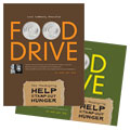 Holiday Food Drive Fundraiser - Poster Template Design