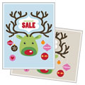 Reindeer Ornaments - Sale Poster Template Design Sample