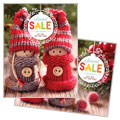 Knitted Dolls - Sale Poster Template Design Sample