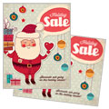 Retro Santa - Sale Poster Template Design Sample