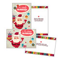 Retro Santa - Greeting Card Template Design Sample
