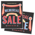 Memorial Weekend - Sale Poster Template Design Sample