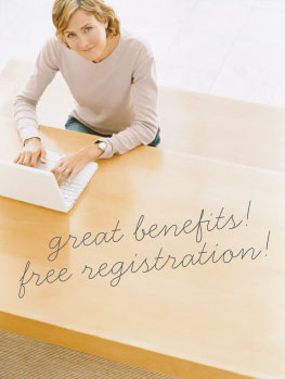 Great benefits! Free Registration!