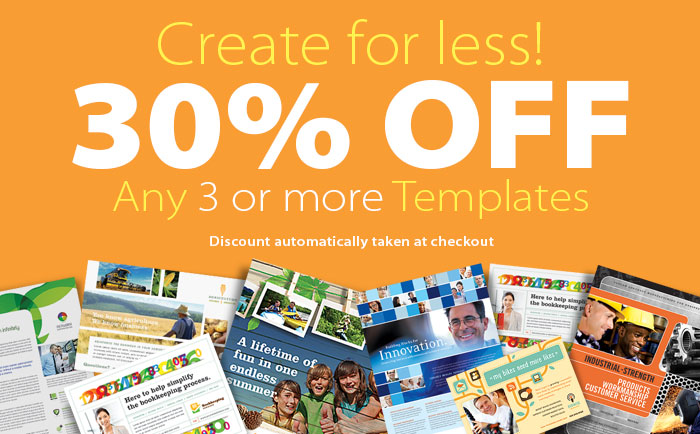 30% Off Any 3 or More Templates