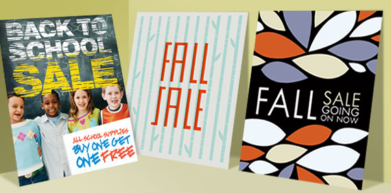 Fall & Back to School Poster Designs
