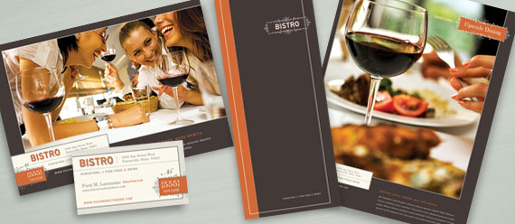Bisto Restaurant Menu, Postcard, Stationery, and Flyer & Ads Designs