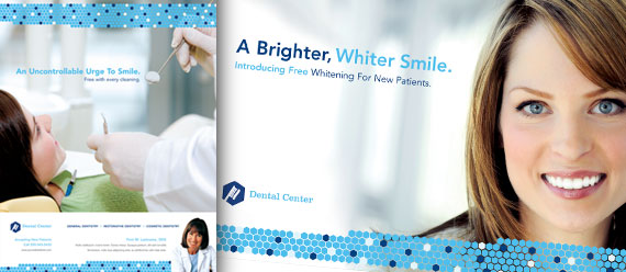 Dental Office Brochure, Newsletter, Postcard, Flyer & Ads and Stationery Designs