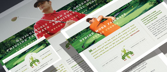 Golf Course & Instruction Brochure, Postcard, Stationery, and Flyer & Ads Designs